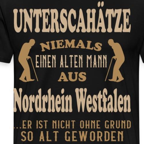 Alter Mann, NRW, Nordrheinwestfalen, Kölsch, Köln - Männer Premium T-Shirt