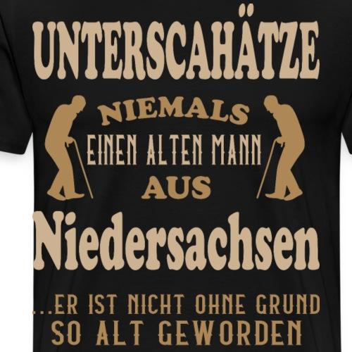 Alter Mann, Niedersachsen, Hannover, Geschenk - Männer Premium T-Shirt