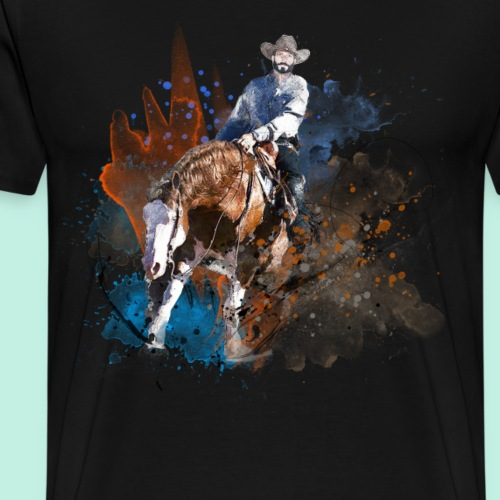 Westernreiter Reining Quarter Horse Sliding Stop - Männer Premium T-Shirt