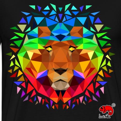 lion rainbow polygon - Maglietta Premium da uomo