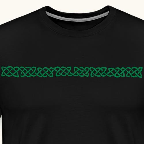 Keltische Bordüre Farbe anpassbar Knoten Geschenk - T-shirt Premium Homme