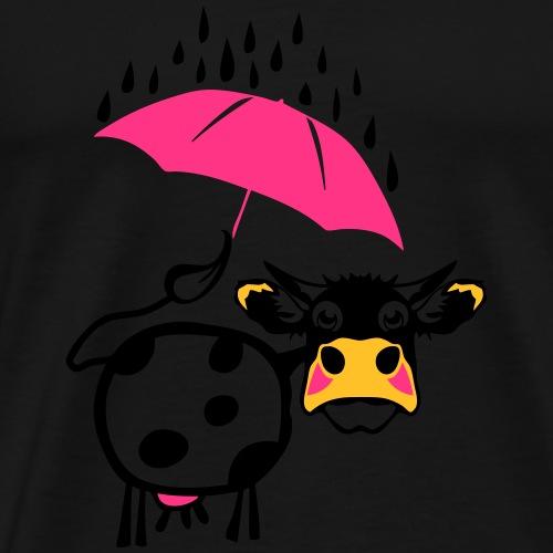 vache cow dessin parapluie 1301 - T-shirt Premium Homme