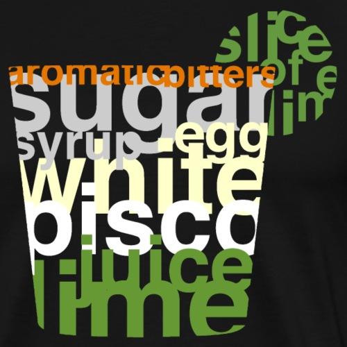 Mixographik - Pisco Sour - T-shirt Premium Homme
