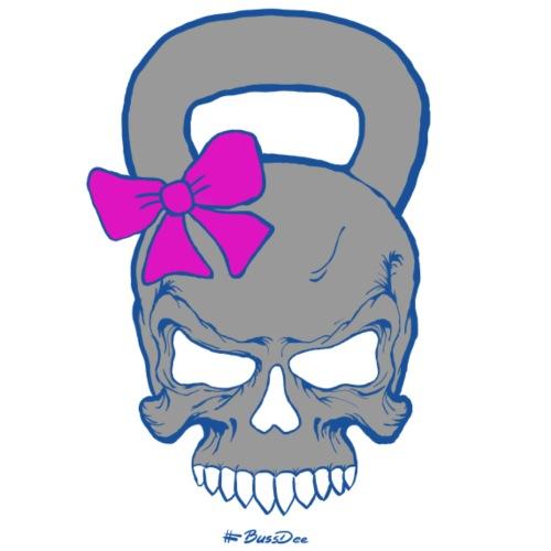 Kettlebell-Skull (weiblich) - Männer Premium T-Shirt