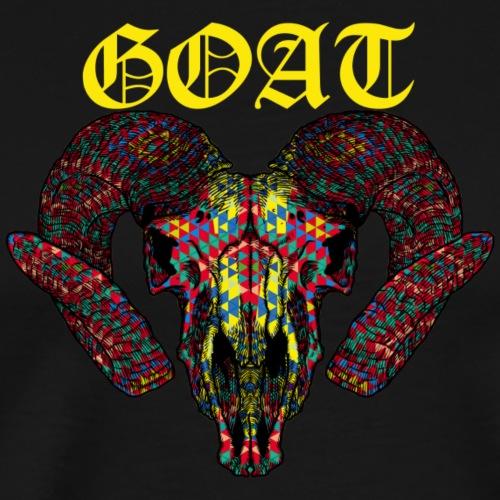 Goat World Music (Yellow) - Men's Premium T-Shirt