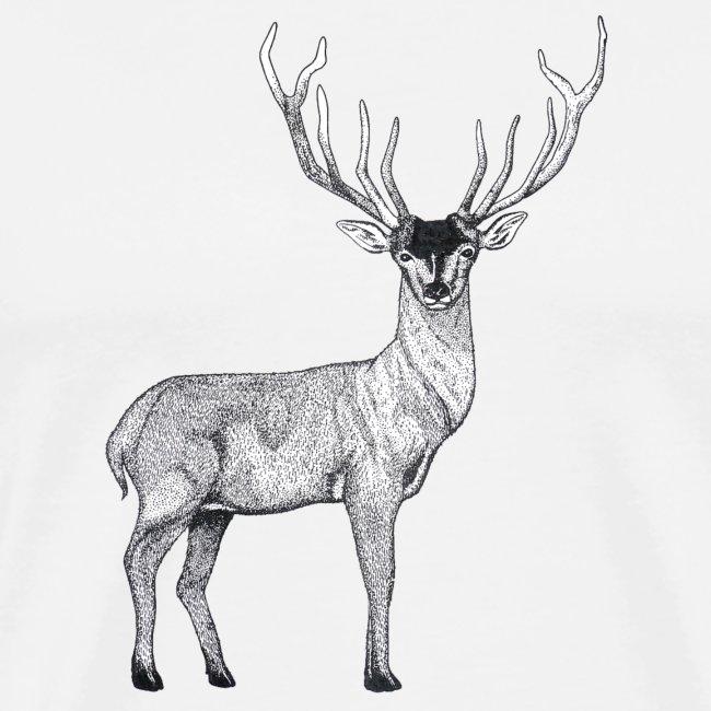 Hirsch Wald Tier Weihnachten Jagd Wild Geschenk