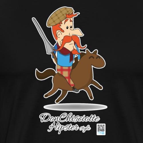 Don Chisciotte hipster - Maglietta Premium da uomo