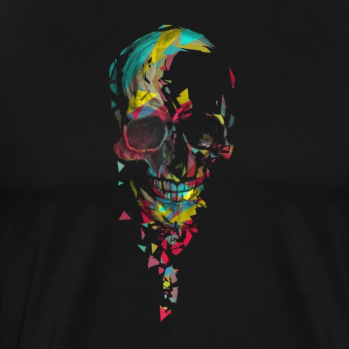 Calavera abstracta - Camiseta premium hombre