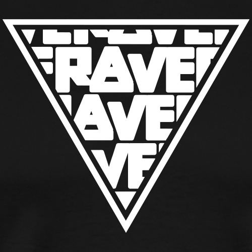 Rave MNML Minimal Logo Techno Events Symbol - Männer Premium T-Shirt