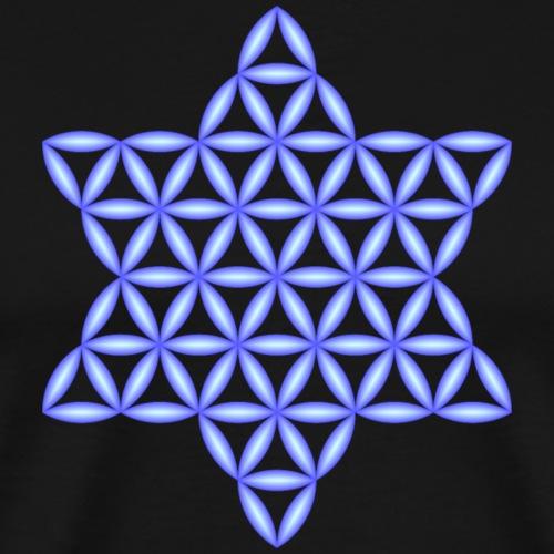 Star Of Life - Vector design, blue - 3d - Men's Premium T-Shirt