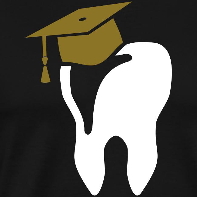 Zahn mit Doktorhut für Zahnarzt Zahnmedizin