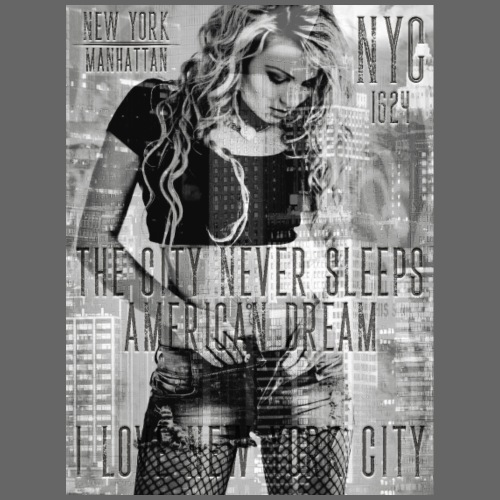 NEW YORK - THE CITY NEVER SLEEPS - DB #1 (S) - Männer Premium T-Shirt