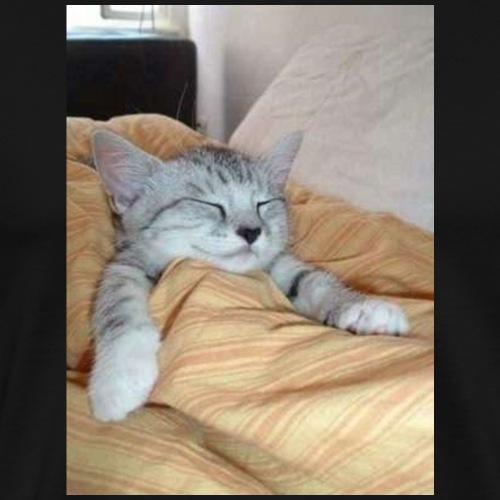 gatto a letto - Maglietta Premium da uomo
