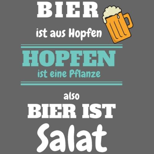 Bier ist aus Hopfen - Bier ist Salat - Männer Premium T-Shirt