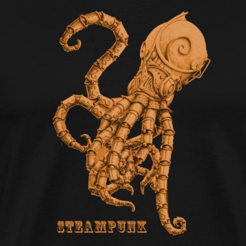 Streampunk Oktopus Tintenfisch retro Futurismus - Männer Premium T-Shirt