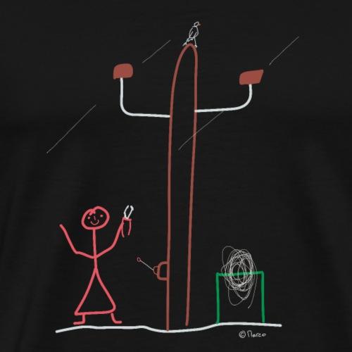 Elektrikerin Strichmännchen, Strom Beruf Frau - Männer Premium T-Shirt