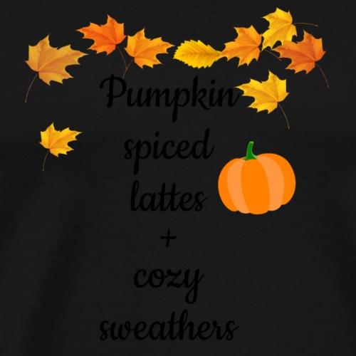 Lattes and Cozy Sweathers - Premium-T-shirt herr