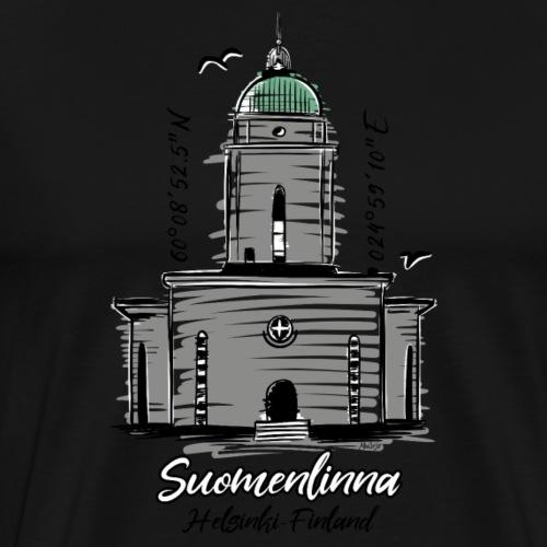 SUOMENLINNAN MAJAKKA KIRKKO Majakkatuotteet shop - Miesten premium t-paita