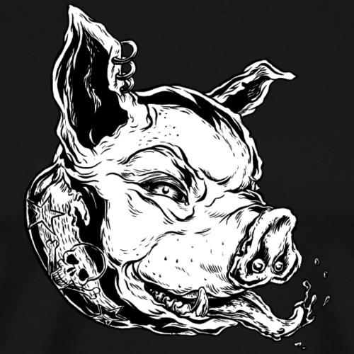 RP HEAD white - Männer Premium T-Shirt