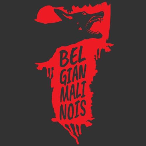 Belgian Malinois HEAD - Miesten premium t-paita