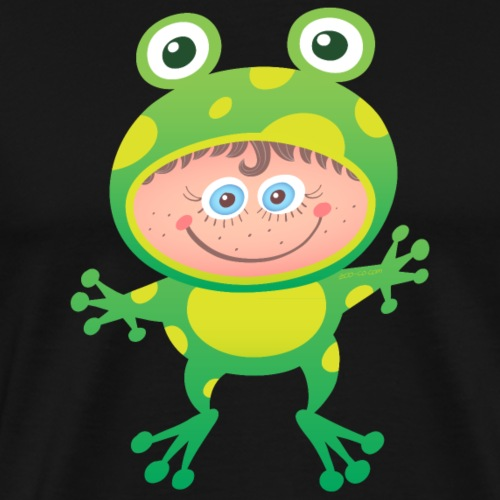 Nice girl wearing a Halloween frog costume - Men's Premium T-Shirt