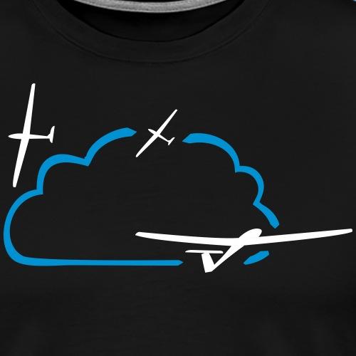 Segelflieger Wolke Geschenk - Männer Premium T-Shirt
