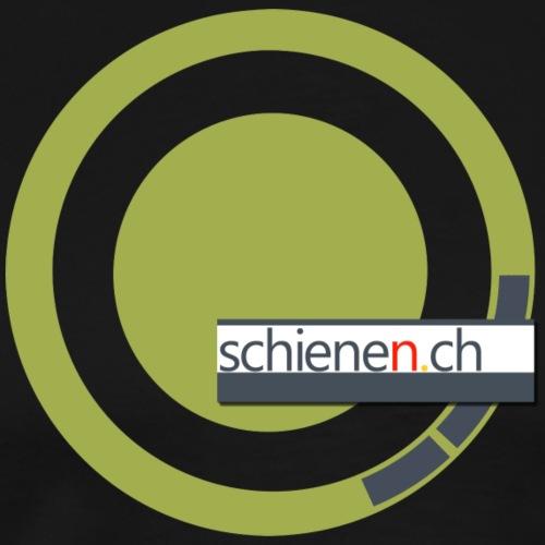 Logo «schienen.ch», senfgelb-grau - Männer Premium T-Shirt