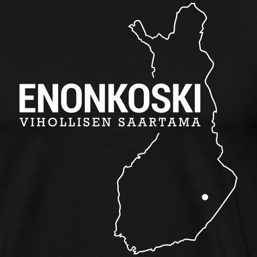 Kotiseutupaita - Enonkoski - Miesten premium t-paita