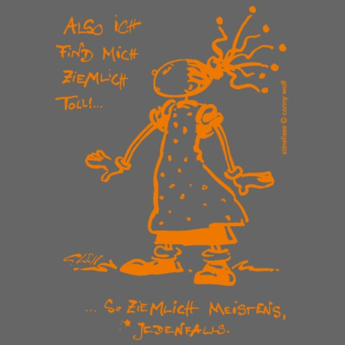 Stineliese...ziemlich toll! - orange - Männer Premium T-Shirt