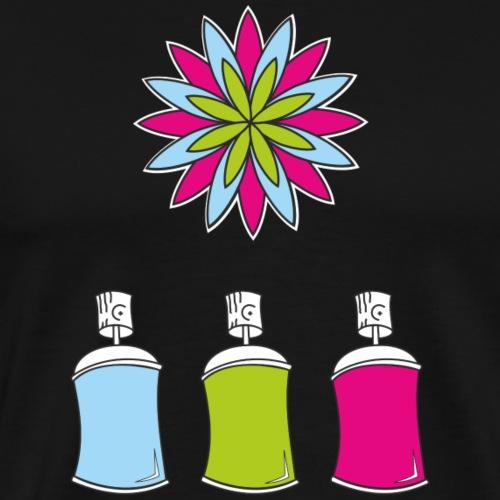 SOLRAC Spray of colors - Camiseta premium hombre