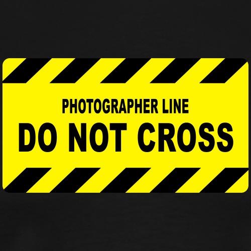 Photographer Line - Do not Cross - Männer Premium T-Shirt
