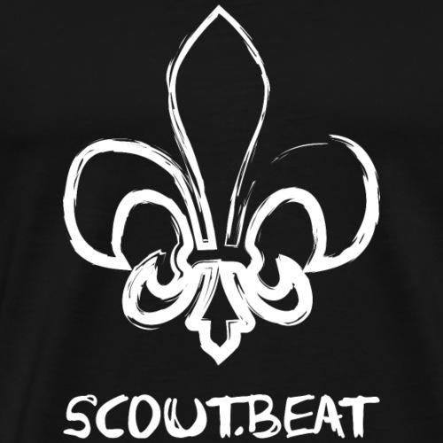 Lilie & SCOUT.beat Schriftzug – Weiß - Männer Premium T-Shirt