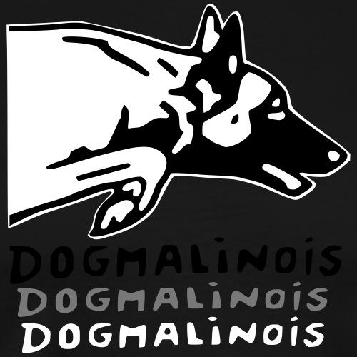 dog malinois saut - T-shirt Premium Homme