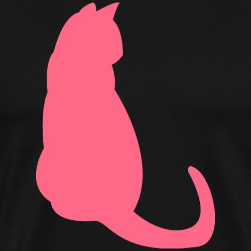 Katze Rosa - Männer Premium T-Shirt