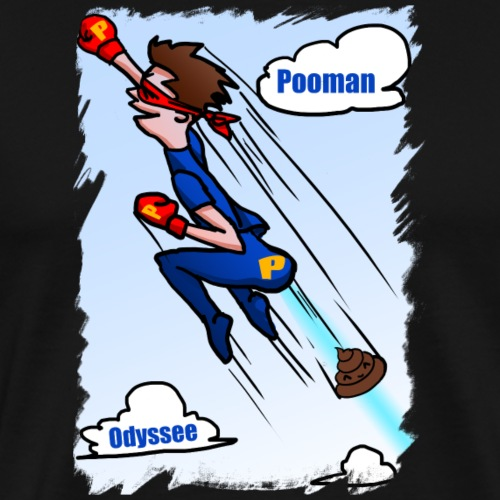 Superhero Pooman - Men's Premium T-Shirt