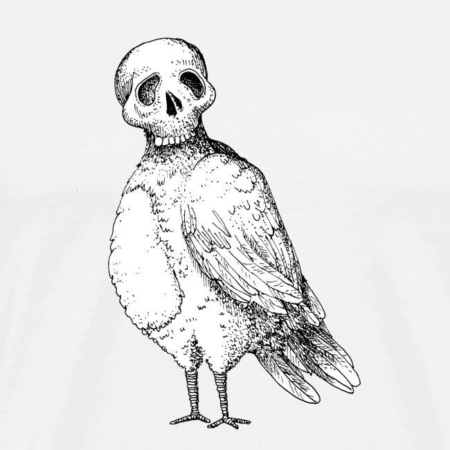 skull bird White alpha