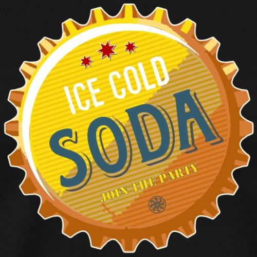 ice cold Soda Wasser Bier Durst eiskalt Cola Party - Men's Premium T-Shirt