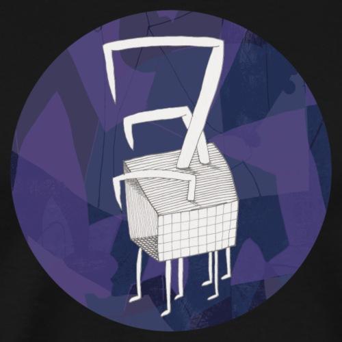 Circle design bird in a box 001 - Mannen Premium T-shirt