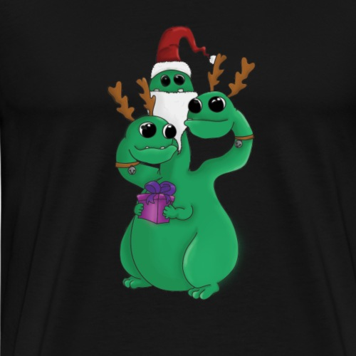 Monstre de Noël à trois têtes - T-shirt Premium Homme