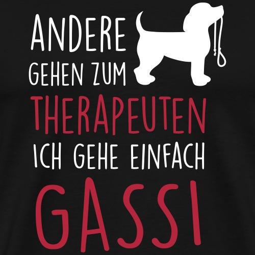 Gassi Therapeut Hund - Männer Premium T-Shirt