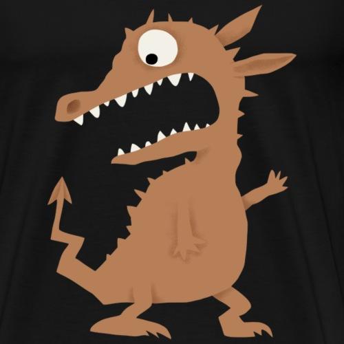 erschrockener Drache - Männer Premium T-Shirt