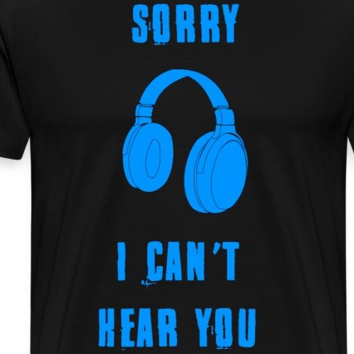 Kopfhörer - Musik Shirt - Männer Premium T-Shirt