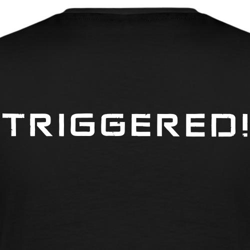 White Negant logo + TRIGGERED! - Herre premium T-shirt