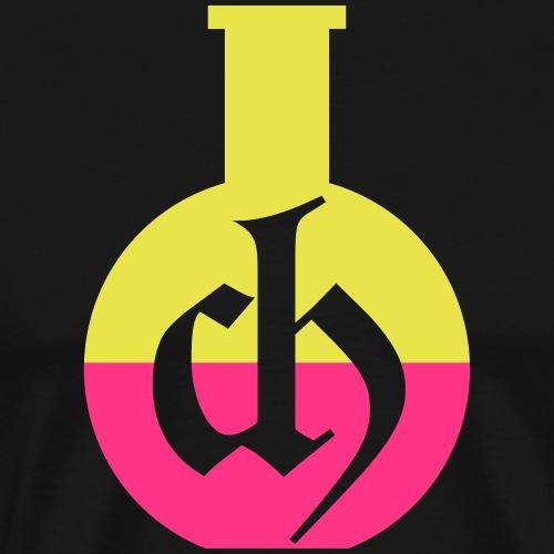 Chemistry, CH logo and bottle - Mannen Premium T-shirt