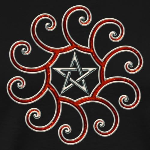 Pentagramm, Fibonacci Spirale, Goldener Schnitt - Männer Premium T-Shirt