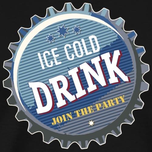 ice cold Drink Limo Bier Durst eiskalt Cola Party - Men's Premium T-Shirt