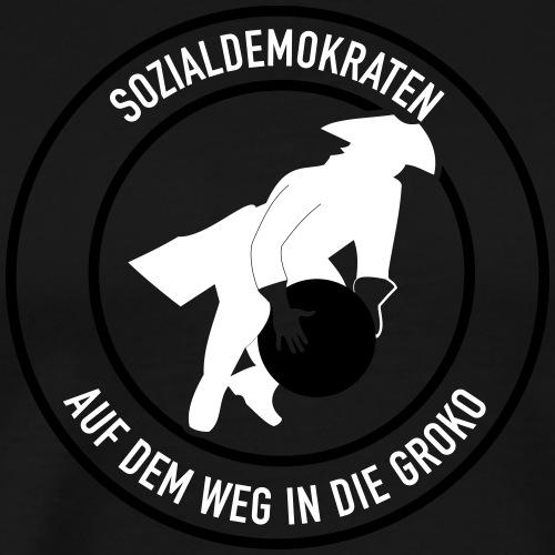 Sozialdemokraten GroKo - Männer Premium T-Shirt