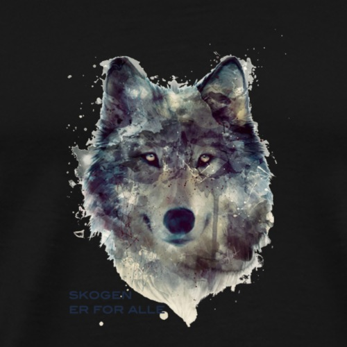 save_the_wolf2 - Premium T-skjorte for menn