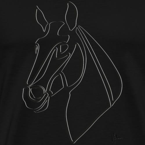 Pferdeblick - Männer Premium T-Shirt