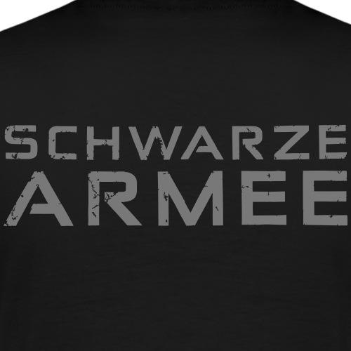 Grey Negant logo + SCHWARZE ARMEE! - Herre premium T-shirt